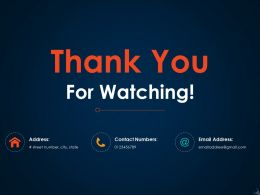 Thank You For Watching Ppt Icon Design Ideas