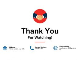 Thank You For Watching Ppt Styles Portrait