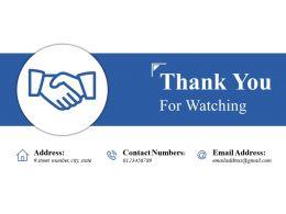 Thank You For Watching Presentation Portfolio