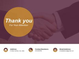 Thank You For Your Attention Ppt Background Designs