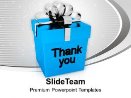 Thank You Gift Box Design PowerPoint Templates PPT Themes And Graphics 0113