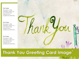 Thank You Greeting Card Image
