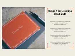 Thank You Greeting Card Slide