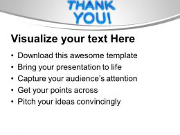 Thank You Metaphor Powerpoint Templates Ppt Backgrounds For Slides 0113