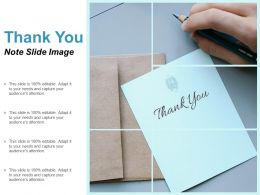 Thank You Note Slide Image