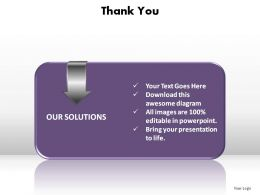 thank you our solutions ppt slides diagrams templates powerpoint info graphics