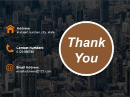 Thank You Powerpoint Slide Deck Template