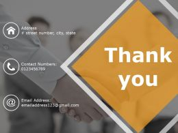 Thank You Ppt Example Professional