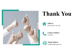 Thank You Ppt Icon Infographic Template