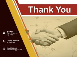 Thank You Ppt Infographic Template