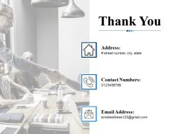 Thank You Ppt Infographic Template Vector