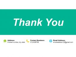 Thank You Ppt Infographics Icon