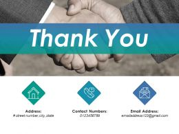 Thank You Ppt Infographics Slideshow