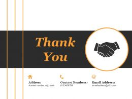 Thank You Ppt Summary Graphics Design