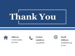 Thank You Ppt Summary Infographic Template