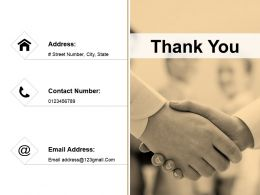 Thank You Presentation Powerpoint Example