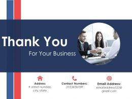Thank You Sample Of Ppt Presentation Template 1