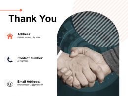Thank You Sample Ppt Business Plan