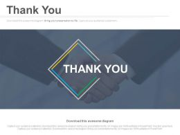 Thank You Slide For Business Deal Powerpoint Slides