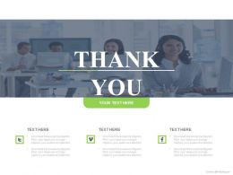 Thank You Slide For Social Media Communication Powerpoint Slides