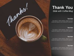 Thank You Slide With Coffee Mug