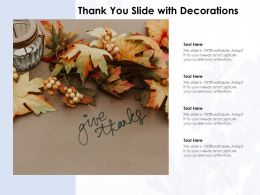 Thank You Slide With Decorations
