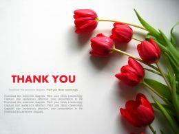 Thank You Slide With Flowers Powerpoint Slides