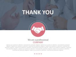 Thank You Tag For Business Deal Powerpoint Slides