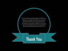 Thank You Text Card For Business Communication Powerpoint Slides