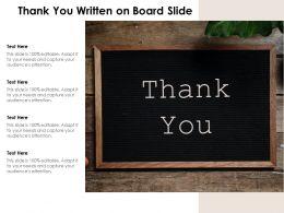 Thank You Written On Board Slide