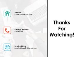 Thanks For Watching Ppt Powerpoint Presentation Inspiration Brochure
