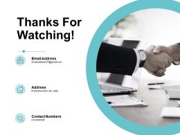 Thanks For Watching Ppt Powerpoint Presentation Inspiration Influencers