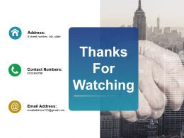 Thanks For Watching Ppt Visual Aids Summary