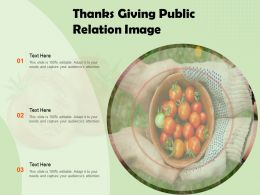 Thanks Giving Public Relation Image