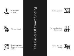 The Basics Of Crowdfunding Powerpoint Slide Presentation Sample