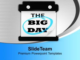 The Big Day Hanging Wall Calendar Powerpoint Templates Ppt Backgrounds For Slides 0113