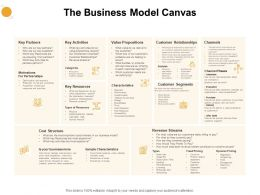 The Business Model Canvas Ppt Powerpoint Presentation Inspiration Deck