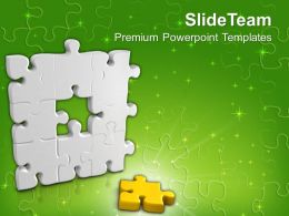 The Center Part Of Puzzle Powerpoint Templates PPT Themes And Graphics 0113
