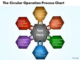 The Circular Operation Process Chart Powerpoint Templates ppt presentation slides 812