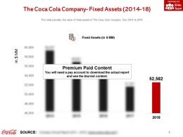 The Coca Cola Company Fixed Assets 2014-18