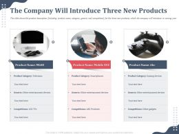 The Company Will Introduce Three New Products Category Smartphones Ppt Topics