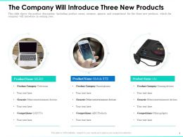 The Company Will Introduce Three New Products Entertainment Ppt Professional