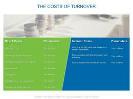 The Costs Of Turnover Ppt Powerpoint Presentation File Formats