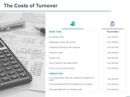 The Costs Of Turnover Trade Secrets Ppt Powerpoint Presentation Visuals
