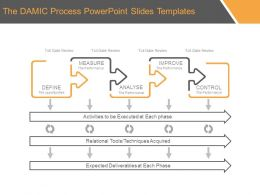 The DMAIC Process Powerpoint Slides Templates