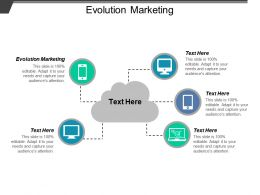 The Evolution Marketing Ppt Powerpoint Presentation Icon Graphics Design Cpb