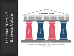 The Four Pillars Of Business Culture Powerpoint Templates