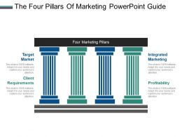Four pillars slide team the four pillars of marketing powerpoint guide toneelgroepblik Choice Image