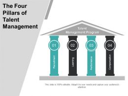The Four Pillars Of Talent Management Powerpoint Ideas