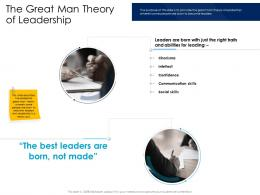 The Great Man Theory Of Leadership Leaders Vs Managers Ppt Powerpoint Presentation Styles Guide